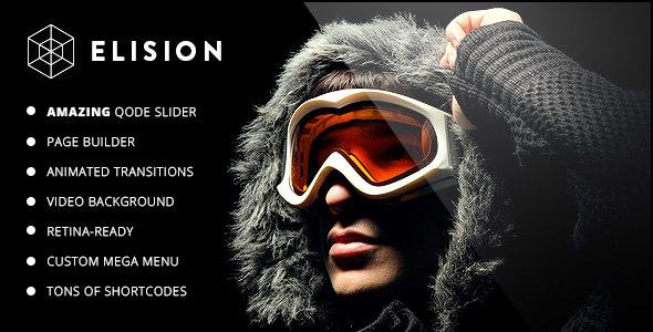 Elision – 豪华创意企业网站模板WordPress汉化主题