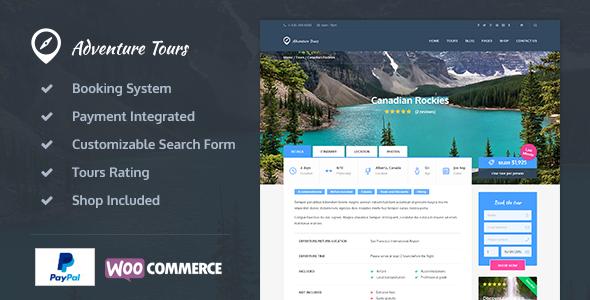 Adventure Tours 旅行社网站模板WordPress主题