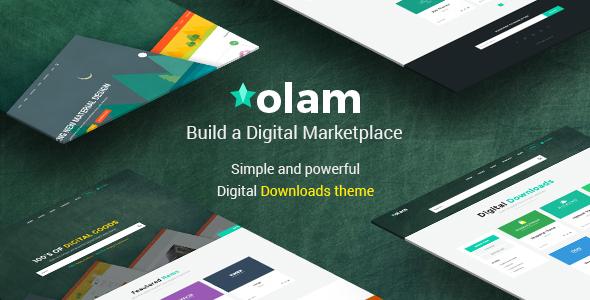 Olam EDD数字下载市场WordPress主题