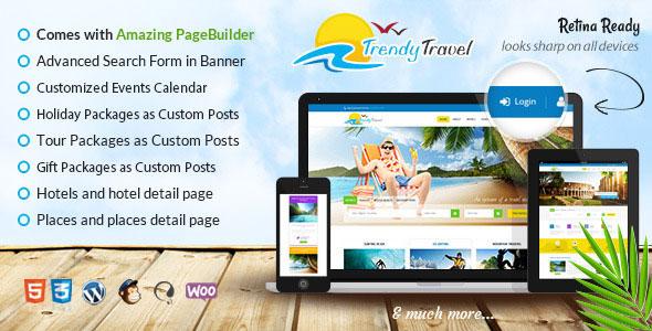 Trendy Travel 旅游酒店名宿预定WordPress主题