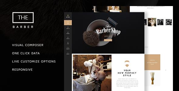 The Barber Shop – 单页美发沙龙WordPress主题