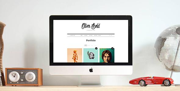 Oliver – 经典迷你网站模板WordPress的主题