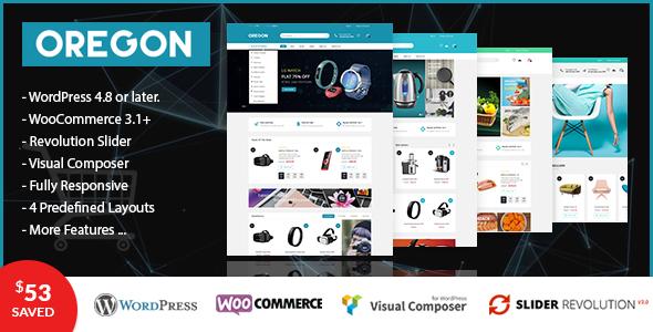 VG Oregon – 响应式在线电商WooCommerce模板