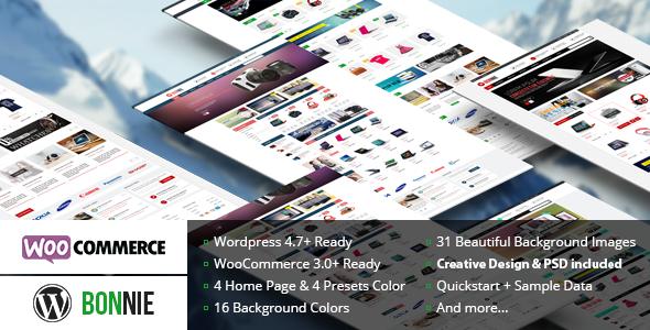 VG Bonnie – 创意电商网站模板WordPress主题