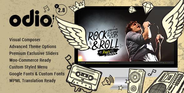 Odio – 音乐家歌手网站模板WordPress主题