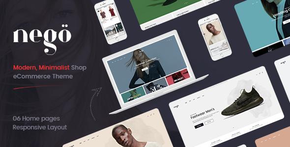 Nego – 极简响应式在线商店网站Prestashop主题