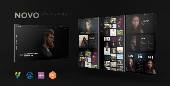 Novo - 摄影作品展示网站模板WordPress主题