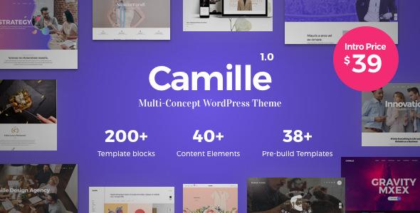 Camille – 多用途企业网站模板WordPress主题