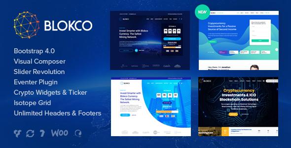 Blokco – 区块链咨询业务网站WordPress主题