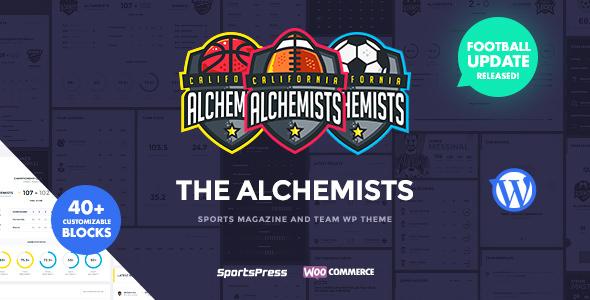 Alchemists – 体育俱乐部新闻WordPress主题