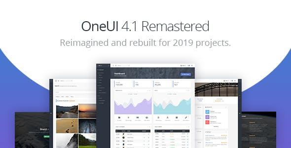 OneUI - Bootstrap 4 后台管理仪表板HTML5模板