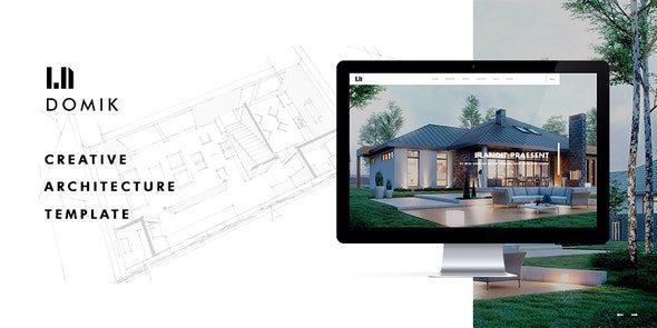 Domik - 创意建筑景观设计装修公司WordPress中文主题